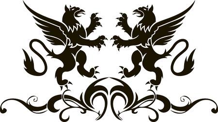 Background heraldry decoration. Vector illustration illustration