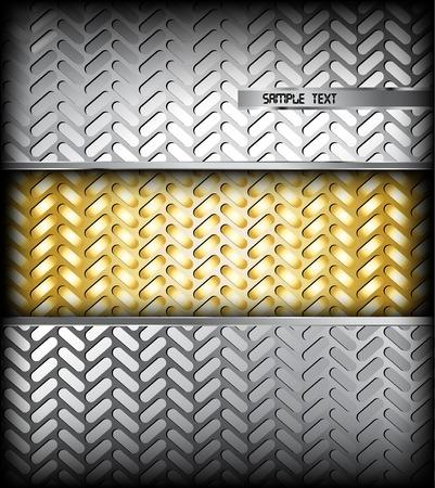 Fluted silver metal texture. Vector background Illustration illustration