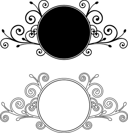 art deco border: Decorative Floral Design Elements editable vector illustration