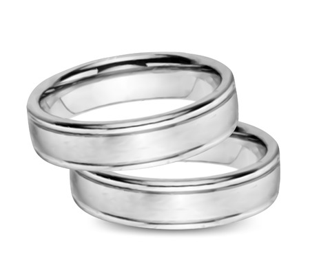 raytracing: Wedding gold Rings isolated. Vector art illustration