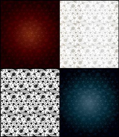 Set of seamless wallpaper pattern. Vector illustration illustration