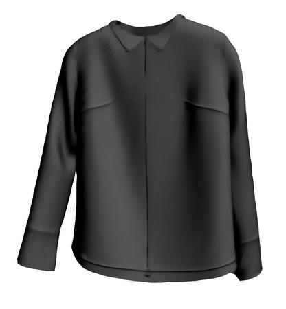 blazer: models of man black jacket. vector illustration