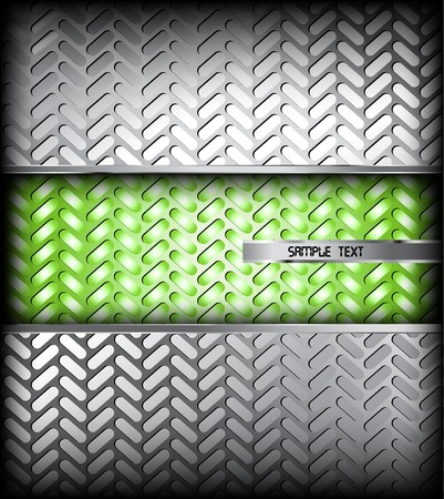 fluted: Fluted silver metal texture. Vector background Illustration