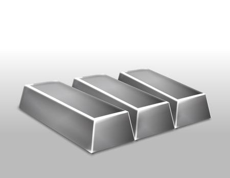 platinum: Platinum ingots isolated illustration
