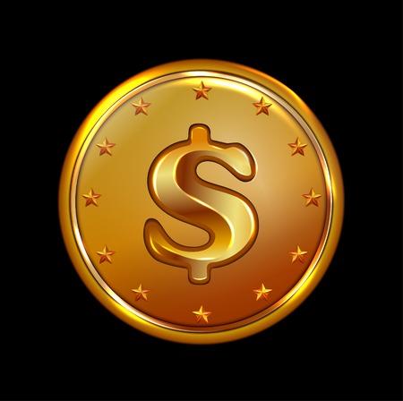 us coin: arte de la ilustraci�n de moneda de bronce