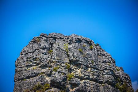 Limestone rock on the sky. Thailand photo