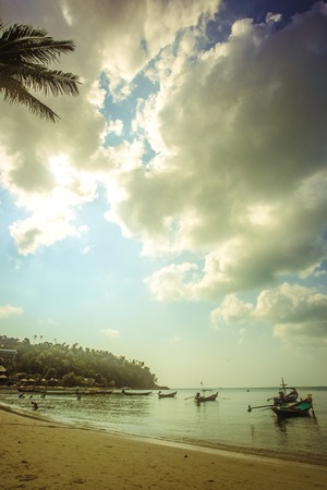 Nature background in vintage style on Koh Phangan, Thailand photo