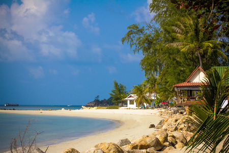 phangan: Paradise nature, sea water, summer and hotel house on the tropical beach. Thailand