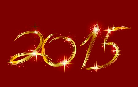 Christmas red background with glow 2015. Vector