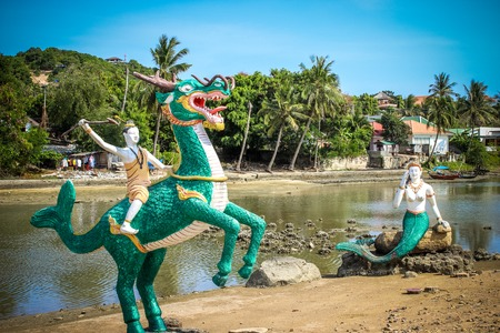 Thai Creatures statue from legend of Mysterious forest in Koh Samui photo