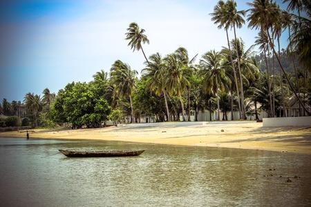 Paradise nature, sea water, summer on the tropical beach Koh Samui photo