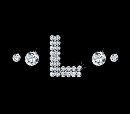 Diamond vector alphabetic letter \'L\'