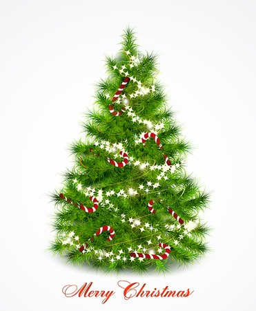 Vector background with christmas tree Vector