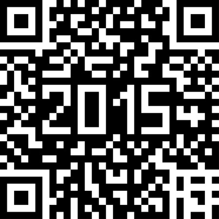 qrcode: Vector background with Christmas QR-code. Illustration