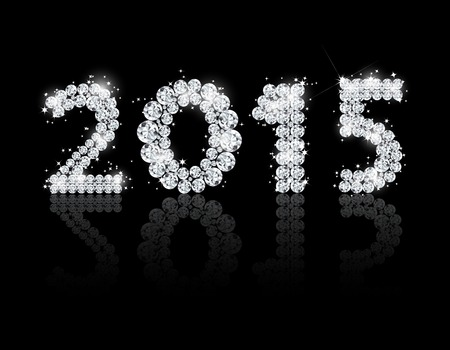 Brilliant text for the new year 2015. Vector background Vector