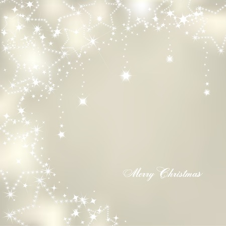 christmas star: Christmas stars on silver background. Vector