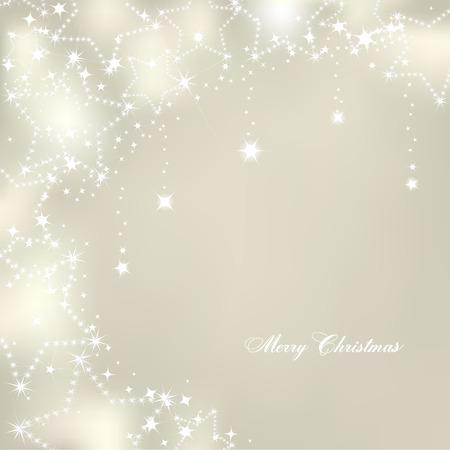 estrellas de navidad: Estrellas de la Navidad en el fondo de plata. Vector