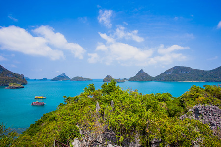 angthong: View from mountain on Angthong Marine National Park