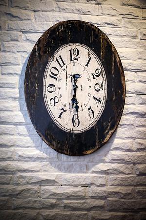 Antique clock on a building. photo