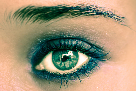 beaux yeux: Vert Maquillage des yeux. Beautiful Eyes Make-up. Macro