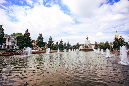 enea: Fountain in Moscow, ENEA. Russia Editorial
