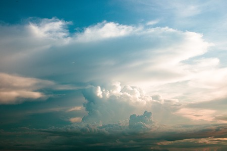 heave: Blue sky with clouds and sun