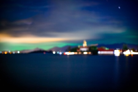 thailand view: Twilight sky with north shine at Koh Samui in Thailand. view on Big Buddha.