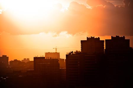 bird view: bird view over city Novosibirsk. Russia Stock Photo