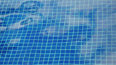 Sparkling Water loops in a swimming pool
