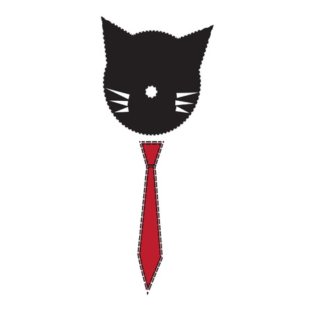 profesional: to describe a cat works. he was wearing a red tie