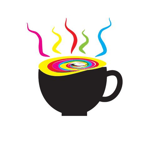 コーヒー カラフルを記述するには  イラスト・ベクター素材