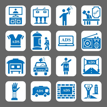 Advertising and promotion vector icon set Vector
