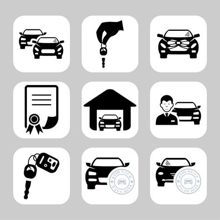 Iconos concesionario de coches Foto de archivo - 36145014