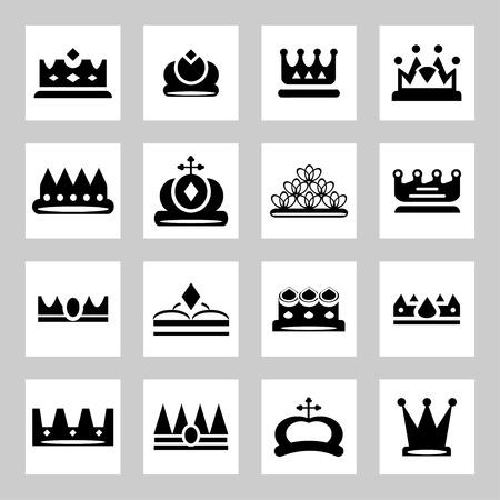 corona de rey: Coronas - iconos y siluetas