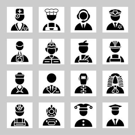 Vector people and professions icons set