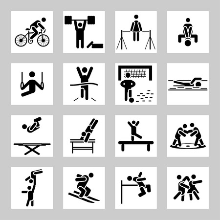 Sport related icons set Vector