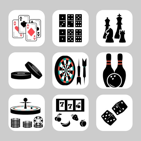 skittles: Vector games related icon set
