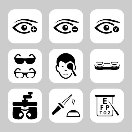 Eye sight vector icons set