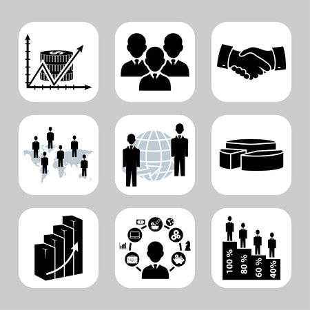 succes: Business and finance vector icon set
