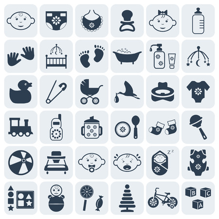 Baby,kids and toys icon set 矢量图像