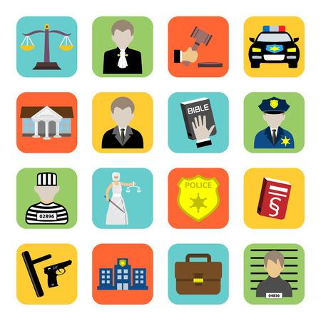 criminal: Criminal and prison icon,law,flat style Illustration
