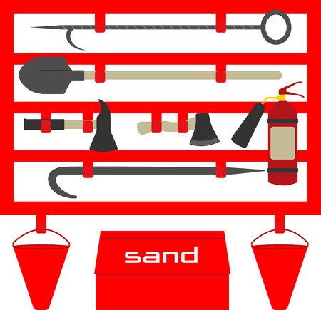 gaff: Fire stand,flat style illustration