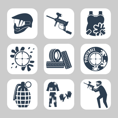 paintball: Paintball related icon set