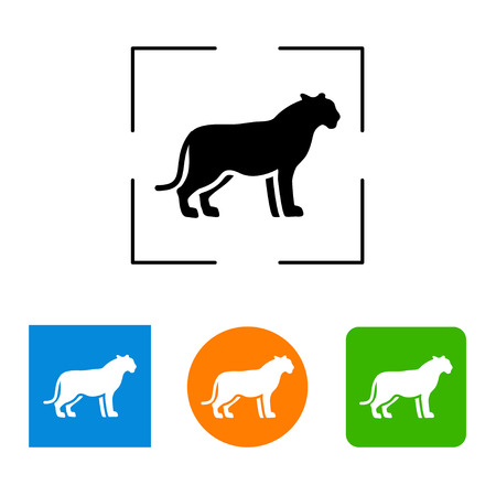 wildcat: Silhouette big cat icon, vector illustration Illustration