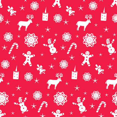 Christmas seamless pattern, vector background