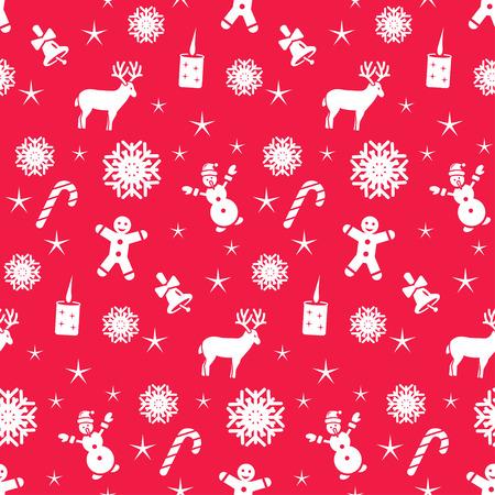 Weihnachten nahtlose Muster, Vektor-Hintergrund