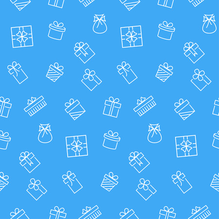 gift pattern: Present seamless pattern. Vector background.