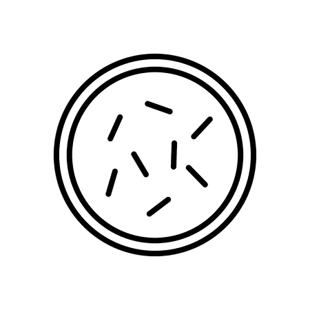 anthrax: Bacteria and germs  icon in thin line style Illustration