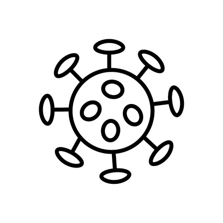 herpes: Bacteria and germs  icon in thin line style Illustration