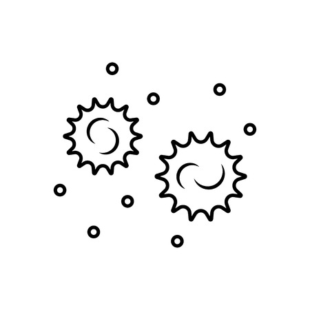 syphilis: Bacteria and germs  icon in thin line style Illustration